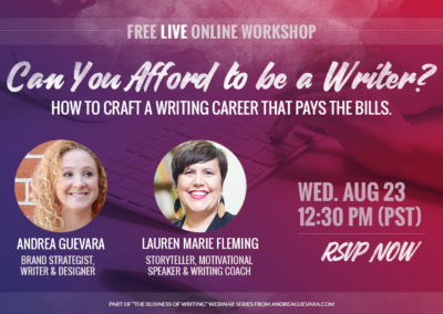 Can You Afford to be a Writer? Workshop